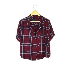 Rails plaid button up short sleeve shirt